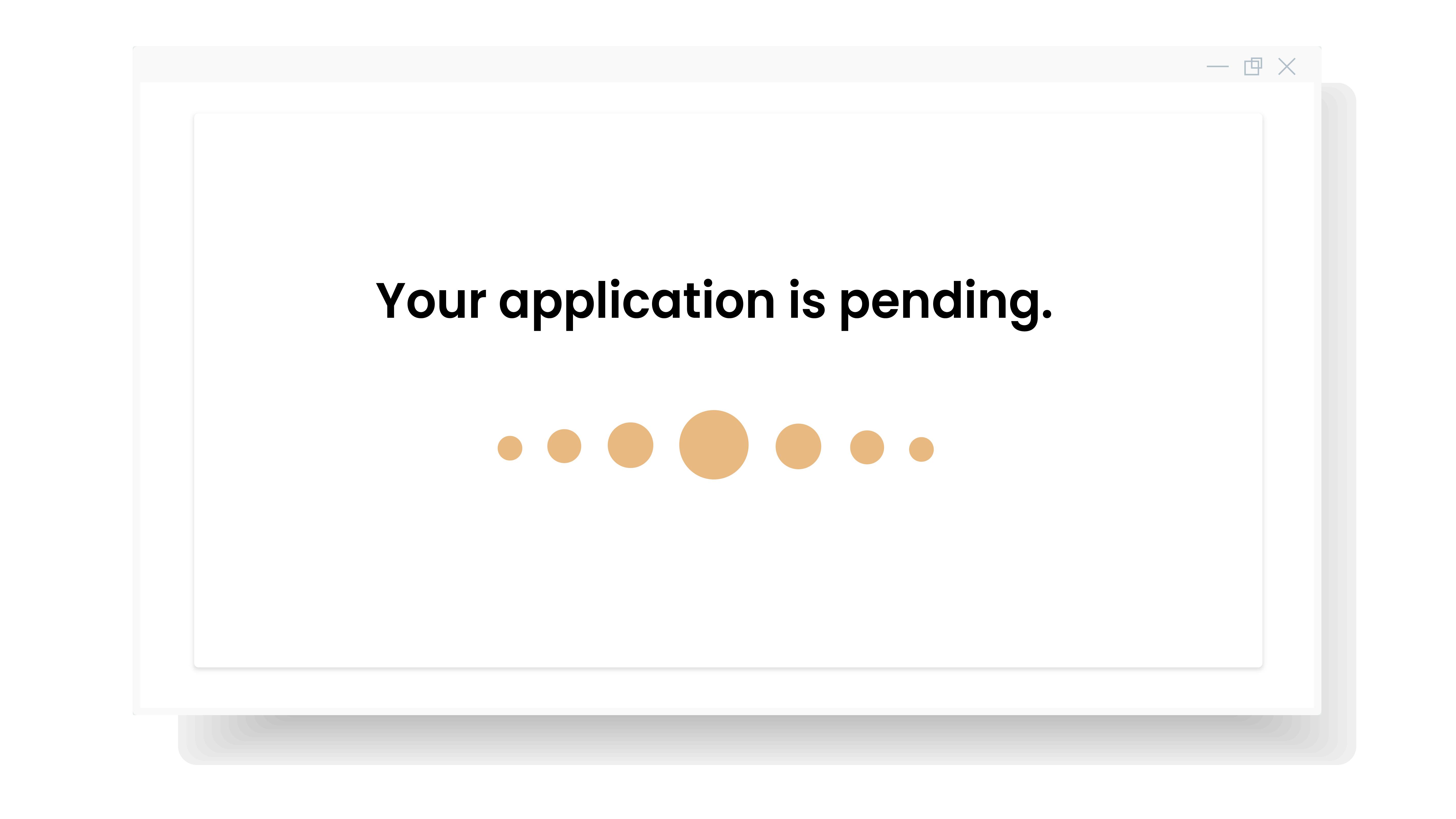 application pending customer onboarding